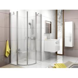 Sprchový kout čtvrtkruh 90x90x195 cm Ravak Chrome bílá 3Q170100Z1