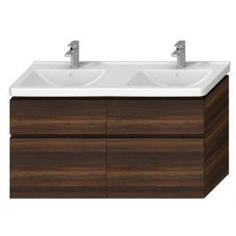 Koupelnová skříňka pod umyvadlo Jika Cubito 128x46,7x68,3 cm borovice tmavá H40J4274024611