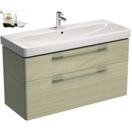 Koupelnová skříňka s umyvadlem Kolo Kolo 120x71 cm jasan bělený SIKONKOT1120JB