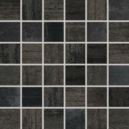 Mozaika Rako Rush černá 30x30 cm pololesk WDM06523.1
