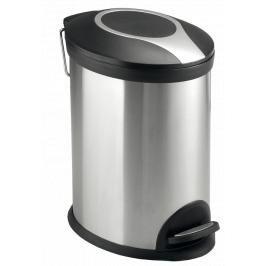 Odpadkový koš volně stojící Optima 12 l nerez/černá mat KOS12PLOVAL