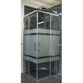 Sprchový kout čtverec 80x80x190 cm Siko TEX chrom lesklý SIKOTEXQ80CRS