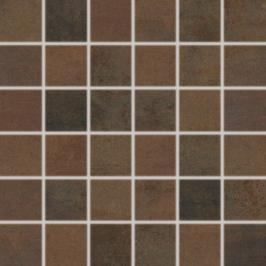 Mozaika Rako Rush tmavě hnědá 30x30 cm pololesk WDM06520.1