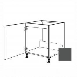 Kuchyňská skříňka dřezová spodní Naturel Terry24 60x72x56 cm břidlicová šedá 334.SPUD60.L