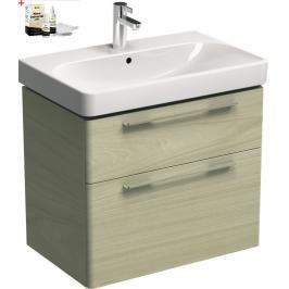 Koupelnová skříňka s umyvadlem Kolo Kolo 75x71 cm jasan bělený SIKONKOT75JB