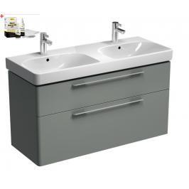 Koupelnová skříňka s umyvadlem Kolo Kolo 120x71 cm platinová šedá SIKONKOT2120PS