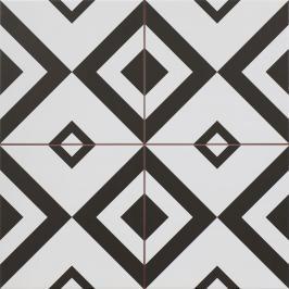 Dlažba Peronda FS Patchworks Brixton černobílá 45x45 cm mat BRIXTON45
