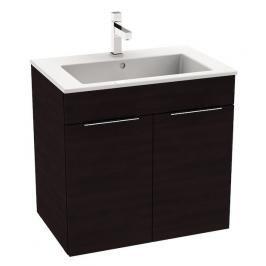 Koupelnová skříňka s umyvadlem Jika Cube 65x43x62,2 cm dub tmavý H4536011763021