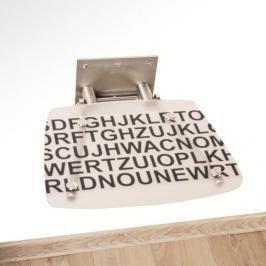 Sprchové sedátko Ravak Ovo B čirá s textem B8F0000030