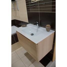 Koupelnová skříňka s umyvadlem Naturel Ancona 75x46 cm akácie ANCONAS75Z