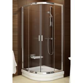 Sprchový kout čtvrtkruh 80x80x190 cm Ravak Blix bílá 3B240100ZG