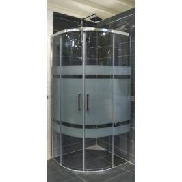 Sprchový kout čtvrtkruh 80x80x190 cm Siko TEX chrom lesklý SIKOTEXS80CRS