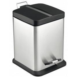 Odpadkový koš volně stojící Optima 12 l nerez/černá mat KOS12PLCTVER