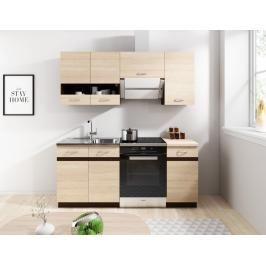 Kuchyně Lexus 120/180 dub sonoma světlá - FALCO