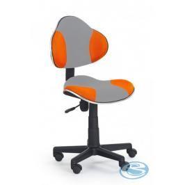 Dětská židle Flash Q-G2 šedo-oranžová - FALCO