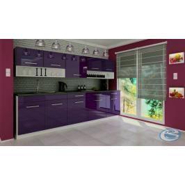 Kuchyňská linka Atractive fialová vysoký lesk 260cm - FALCO