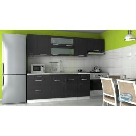 Kuchyňská linka Emilia 180/240 černá vysoký lesk - FALCO