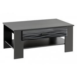 Konferenční stolek Blade 4 černý/Sahara lesk - FALCO