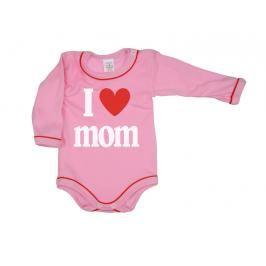 ANTONY FASHION - Body dlouhý rukáv - Mom - růžové - velikost: 56
