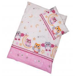 ANTONY FASHION - Povlečení (růžovo-fialové) - Sovy - velké, velikost: 120x90 (přikrývka) + 40x60 (polštář)