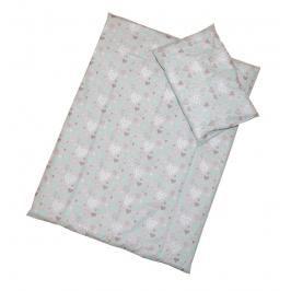 ANTONY FASHION - Povlečení (šedé) - Srdíčka, velikost: 120x90 (přikrývka) + 40x60 (polštář)