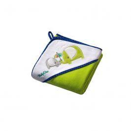 BABY ONO - Osuška s kapucí Velour 100x100 - green