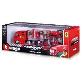 BBURAGO -  Bburago 1:43 Ferrari Race & Play Hauler Kamion s jedním autíčkem 31202