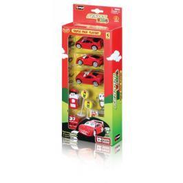 BBURAGO -  Ferrari Kids trojice autíček s příslušenstvím