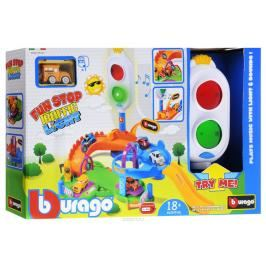 BBURAGO -  Fun Stop Traffic Light Playset s jedním autíčkem 30111