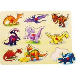 BINO - 88099 Puzzle na desce dinosauři