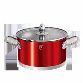 Blaumann - Hrnec s poklicí 24 cm 5,5 l - červený, BH-1308