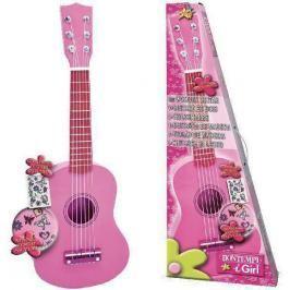 BONTEMPI - Klasická dřevěná kytara 55 cm v dívčí růžové barvě 225571