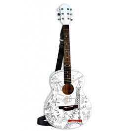 BONTEMPI - Klasická dřevěná kytara 85 cm s moderním designem Paříž 238511