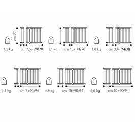 BREVI - 301 SECURELLA Rozšíření otevírací zábrany o 7,5 cm