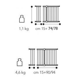 BREVI - 303 SECURELLA Rozšíření otevírací zábrany o 15 cm