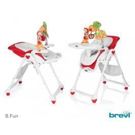 BREVI - B-FUN Jídelní židle s hrazdičkou 2017, 645, Červená