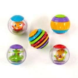 BRIGHT STARTS - Hračka Shake & Spin Activity Balls, 3m +