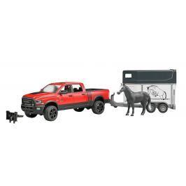 BRUDER - 2501 Jeep RAM Power Wagon s přepravníkem na koně