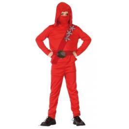 CASALLIA - Karnevalový kostým Ninja v červeném obleku L
