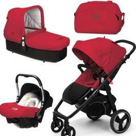 CASUALPLAY - Set kočárek LOOP, autosedačka Baby 0plus, vanička Cot a Bag 2015 - RASPBERRY