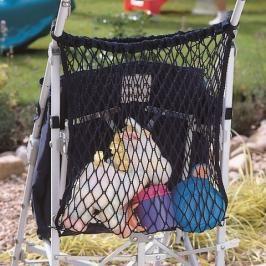 CLIPPASAFE - Síťovaná taška na kočárek, černá