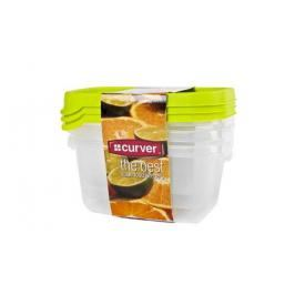CURVER - Sada dóz na potraviny obdélník 3 x 0,5 l