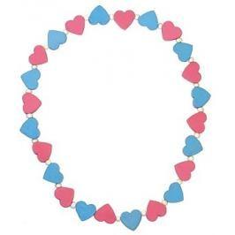 DETOA - Dětský Náhrdelník S Růžovými A Modrými Srdíčky