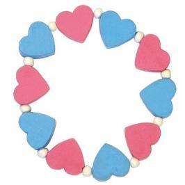 DETOA - Dětský Náramek S Růžovými A Modrými Srdíčky