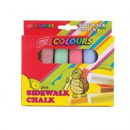 EASY - EASY Colours-chodníkové křídy 6 ks/sada