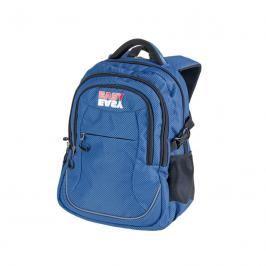 EASY - Batoh školní tříkomorový modré kostičky, profilovaná záda, 26 l