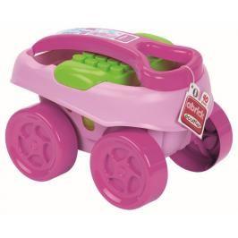ECOIFFIER - Abrick Maxi Vozík s kostkami 40 ks, růžový