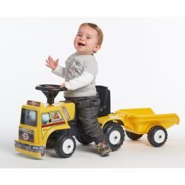 FALK - odrážedlo 1017B Baby stavební auto s vlečkou