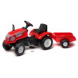 FALK - Šlapací traktor 2046 Farm Master 720 červený s vlečkou