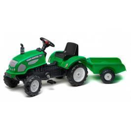 FALK - Šlapací traktor 2047 Farm Master 720 zelený s vlečkou